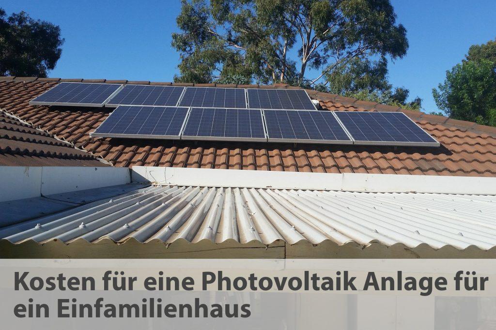 Photovoltaik für ein Einfamilienhaus